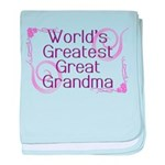 World's Greatest Great Grandma baby blanket
