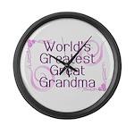 World's Greatest Great Grandma Large Wall Clock