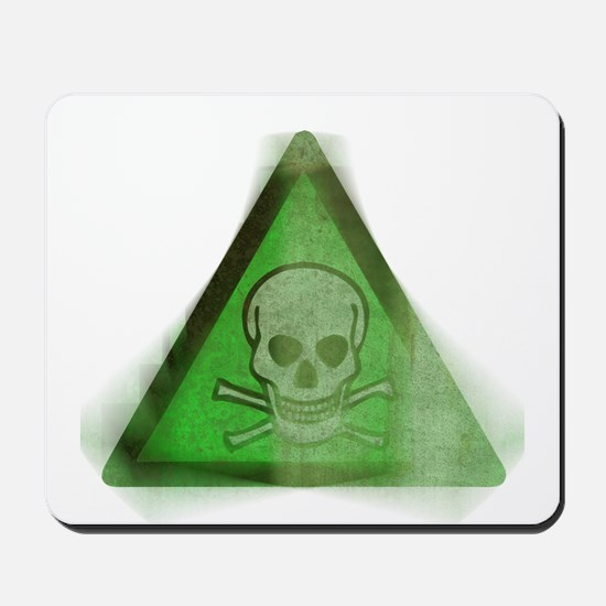 Green Grunge Poison Sign Mousepad