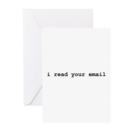 I Read Your Email Greeting Cards (Pk of 20)