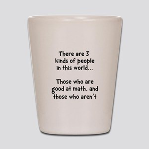 Math People Shot Glass