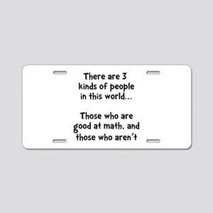 Math People Aluminum License Plate