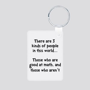 Math People Aluminum Photo Keychain