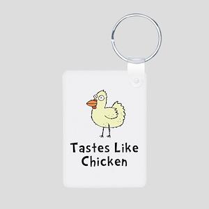Tastes Like Chicken Aluminum Photo Keychain
