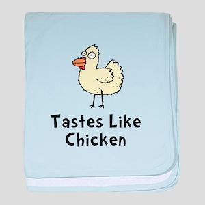 Tastes Like Chicken baby blanket