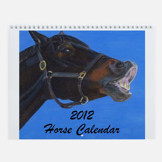Unique Equestrian art Wall Calendar