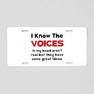 Voices In Head Aluminum License Plate