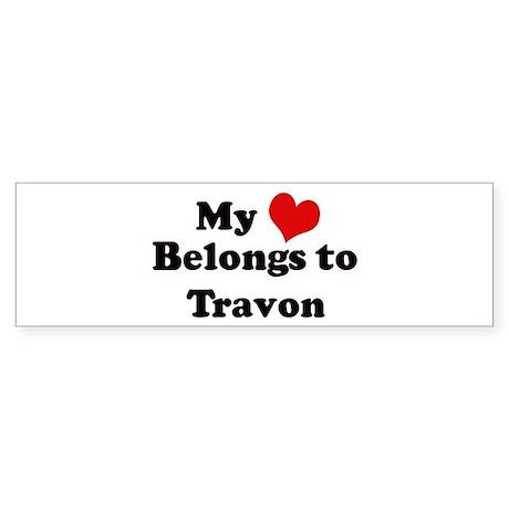 My Heart: Travon Bumper Sticker