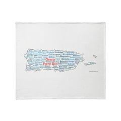 CienciaPR Map Throw Blanket