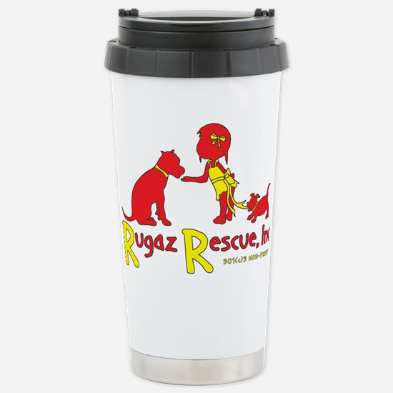 Rugaz Logo Gear Stainless Steel Travel Mug
