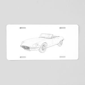 Jaguar XKE 1972 Aluminum License Plate