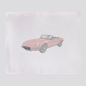 Jaguar XKE 1972 Throw Blanket