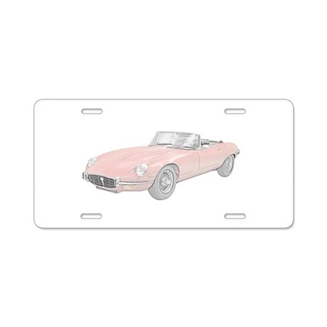 Jaguar XKE 1972 Aluminum License Plate