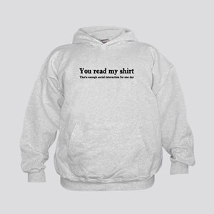 You read my shirt Kids Hoodie