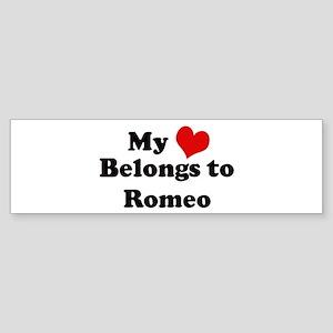 My Heart: Romeo Bumper Sticker