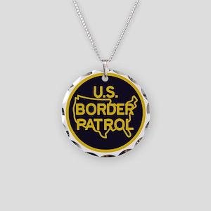 Border Patrol Necklace Circle Charm