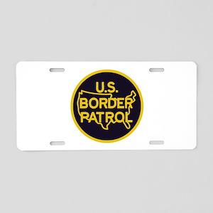 Border Patrol Aluminum License Plate
