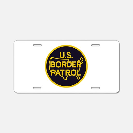 Border Patrol Aluminum License Plate