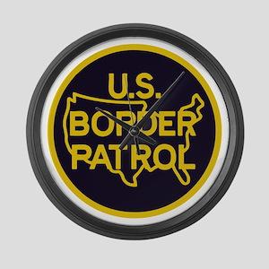 Border Patrol Large Wall Clock