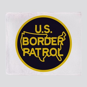Border Patrol Throw Blanket