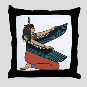 Egyptian Goddess Maat Throw Pillow