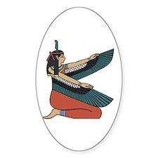 Egyptian Goddess Maat Sticker (Oval)