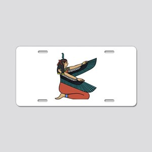 Egyptian Goddess Maat Aluminum License Plate
