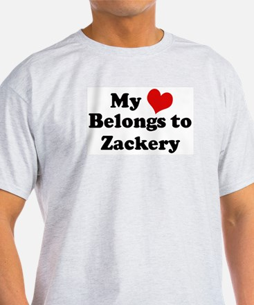 My Heart: Zackery Ash Grey T-Shirt