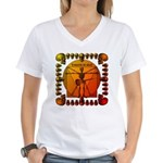 Leoguitar3 Women's V-Neck T-Shirt