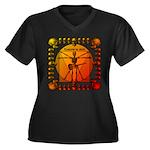 Leoguitar3 Women's Plus Size V-Neck Dark T-Shirt
