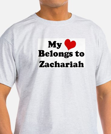 My Heart: Zachariah Ash Grey T-Shirt