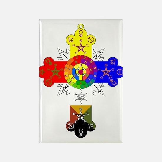Rose Cross Rectangle Magnet