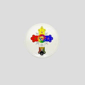 Rose Cross Mini Button