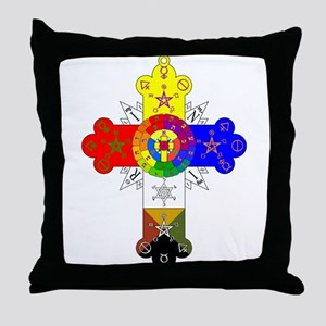 Rose Cross Throw Pillow