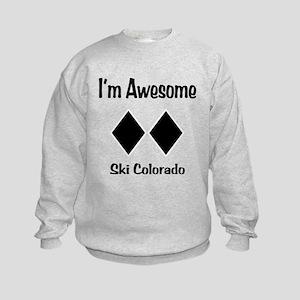 I'm Awesome Ski Colorado Kids Sweatshirt