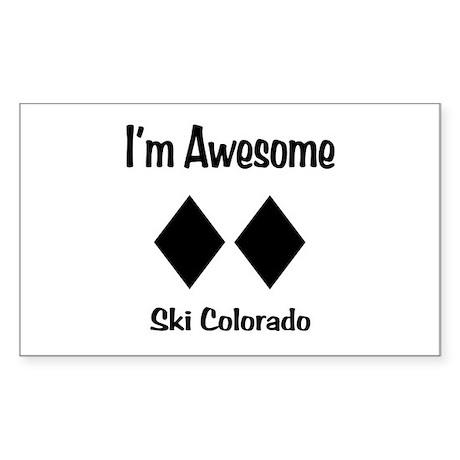 I'm Awesome Ski Colorado Sticker (Rectangle)