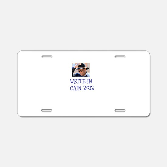 Write-In Cain 2012 Aluminum License Plate