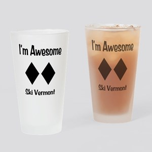 I'm Awesome Ski Vermont Drinking Glass