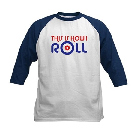 This Is How I Roll Curling Kids Baseball Jersey