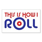 This Is How I Roll Curling Sticker (Rectangle)