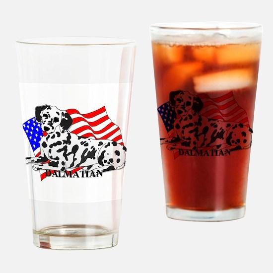 Dalmatian USA Drinking Glass