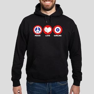 Peace Love Curling Hoodie (dark)