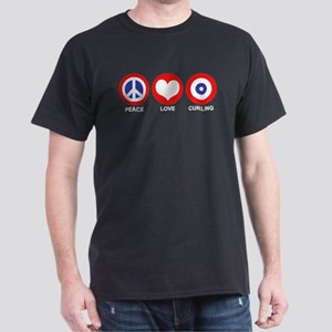 Peace Love Curling Dark T-Shirt