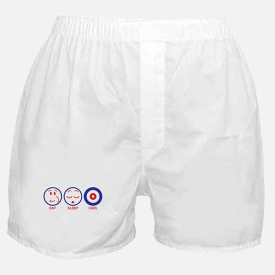 Eat Sleep Curl Boxer Shorts