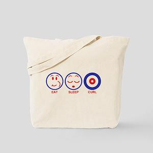 Eat Sleep Curl Tote Bag