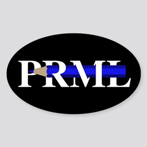 PRML Blue Pencil Sticker (Oval)