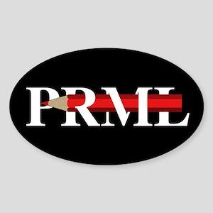 PRML Red Pencil Sticker (Oval)