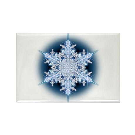 Snowflake 32 Rectangle Magnet (100 pack)