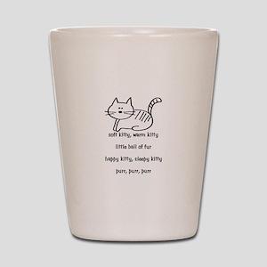 Soft Kitty in Binary Shot Glass