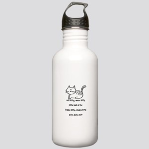 Soft Kitty in Binary Stainless Water Bottle 1.0L